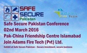 safe-secure-pakistan-conference Adams Fire Tech